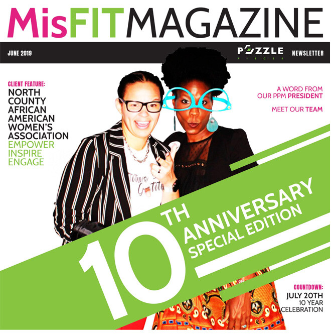 isFIT Magazine June 2019. Title: 10th Anniversay Special Edition. Features: A Word from Our President, North County African American Women's Association.