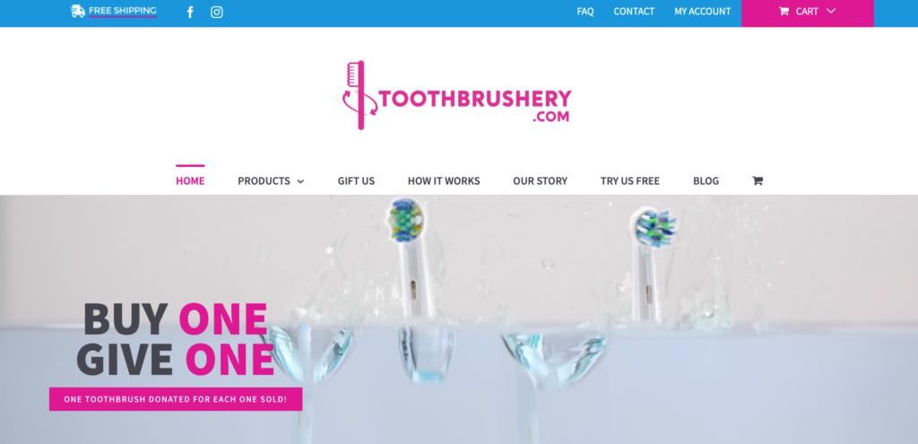 toothbrushery.com website