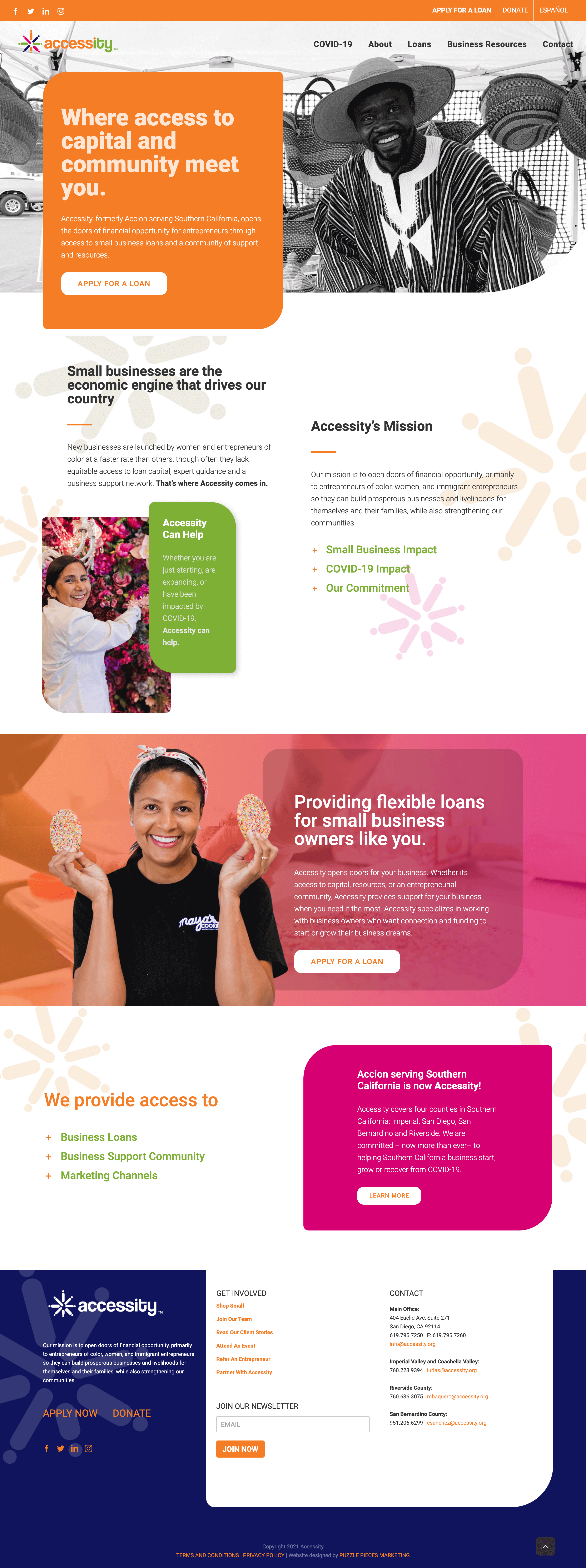 Accessity Home page